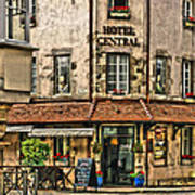 Hotel Central In Beaune France Poster