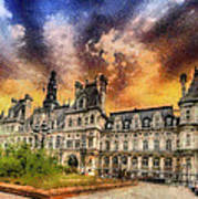 Sunset At The Hotel De Ville Poster