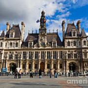 Hotel De Ville The Paris City Hall Poster