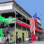 Hotel  Orndorff Colored American Flags Tucson Arizona Circa 1915-2012 Poster