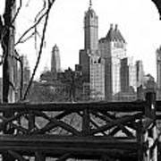 Hotels Seen From Central Park  Poster