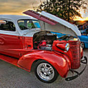 Hotrod Sunset Poster