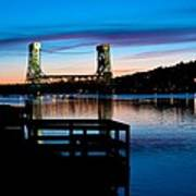 Houghton Bridge Sunset Poster