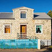 House In Akureyri Iceland Poster