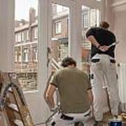 House Painters At Work Poster
