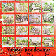 House Rendering Card Poster