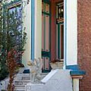 House With Griffin Lafayette Square St Louis Poster
