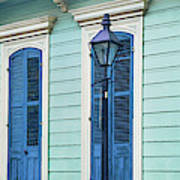 Houses Along A Street, French Quarter Poster