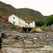 Houses At Kynance Cove Poster