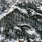 Houses In A Village In Winter, Tasch Poster