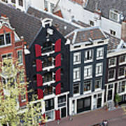 Houses In Amsterdam From Above Poster