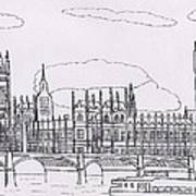 Houses Of Parliament Poster by Bav Patel