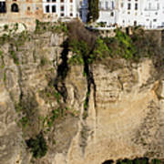 Houses On Rock In Ronda Poster