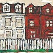 Houses On William Street Poster