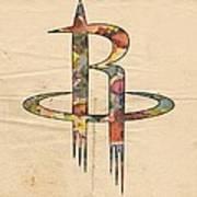 Houston Rockets Logo Art Poster