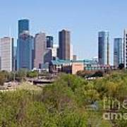 Houston Skyline And Buffalo Bayou Poster