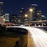 Houston Skyline At Dusk Poster