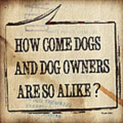 How Come Dogs And Dog Owners Are So Alike Poster by Hiroko Sakai