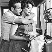 Hud, From Left, Paul Newman, Patricia Poster