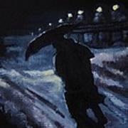 Huddling Through The Storm Poster