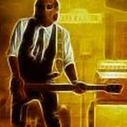 Huey Lewis-mario-gd19a-fractal Poster
