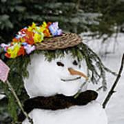 Hula Snowlady Poster