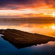 Humboldt Bay Spring Sunrise Poster