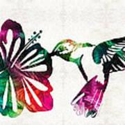 Hummingbird Art - Tropical Chorus - By Sharon Cummings Poster