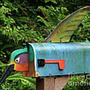 Hummingbird Mailbox Poster