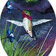 Hummingbird Two Poster