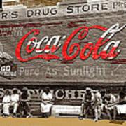 Hunter's Drug Store Coca-cola Mural Greensboro Georgia Marion Post Wolcott Fsa Spring 1939-2014  Poster
