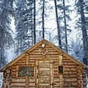 Hunting Cabin In Alberta Poster