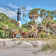 Hunting Island - Beach View Poster