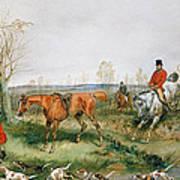 Hunting Scene Poster