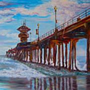 Huntington Beach Pier 2 Poster