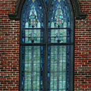 Stained Glass Arch Window Poster