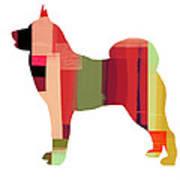 Husky Poster by Naxart Studio