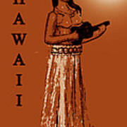 Travel To The Aloha State Poster