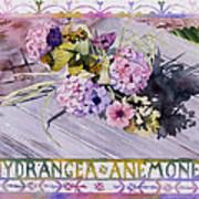 Hydrangea Anemones Poster
