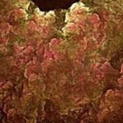 Hydrangea Fractal Blossoms Poster