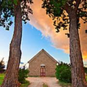 Hygiene Colorado Church Of The Brethren 1880 Sunset Poster