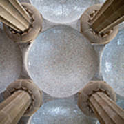 Hypostyle Room Ceiling In Park Guell Poster