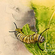 I Am Very Hungry - Monarch Caterpillar Poster