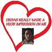 I Love Degas Poster