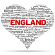 I Love England Poster
