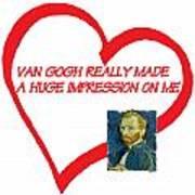 I Love Van Gogh Poster