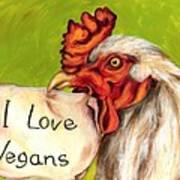 I Love Vegans Poster