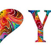 I Love You 17 - Heart Hearts Romantic Art Poster