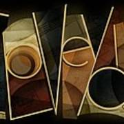 I Love You - Abstract  Poster
