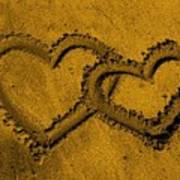 I Love You In The Sand Poster